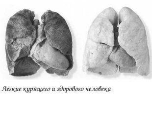 Легкие курящего и здорового человека