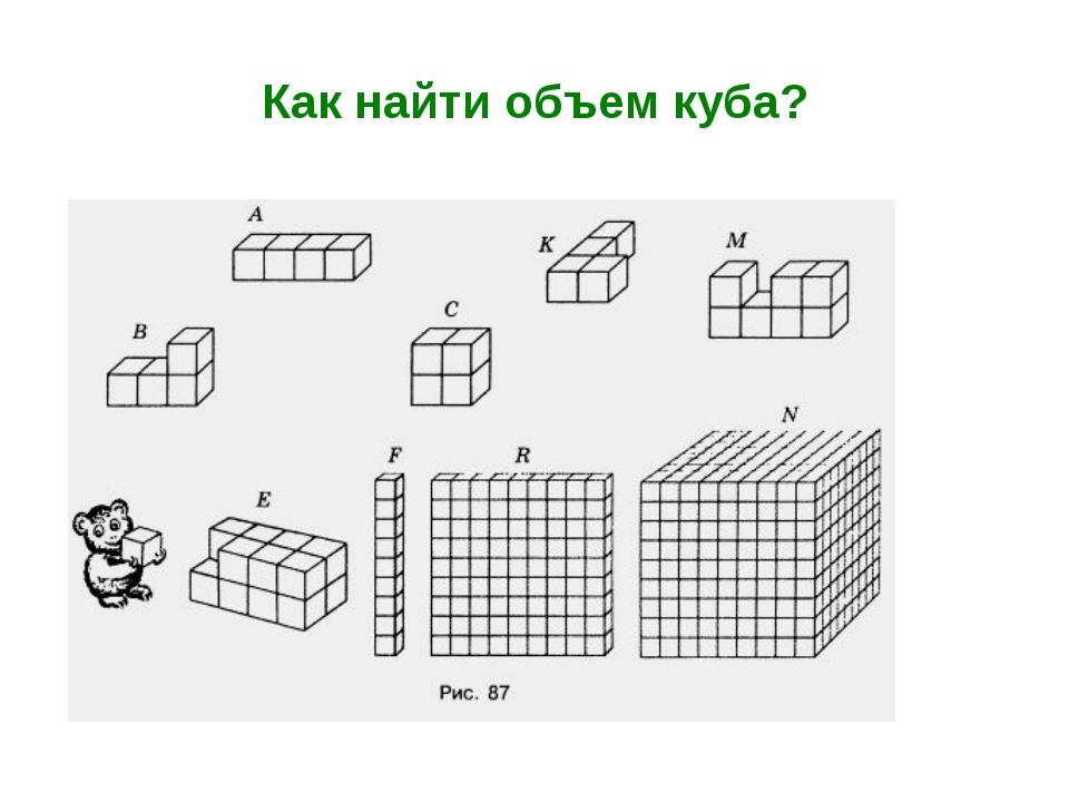 Как найти объем куба?