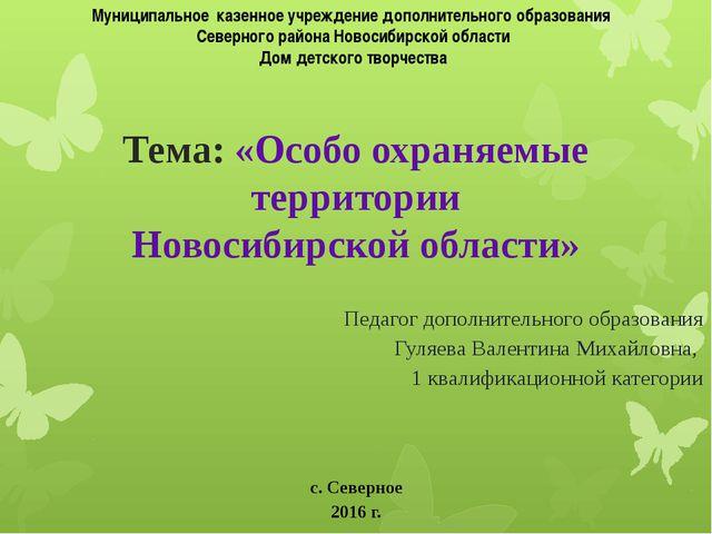 Муниципальное казенное учреждение дополнительного образования Северного район...