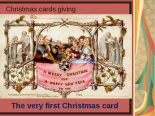 Christmas cards giving The very first Christmas card