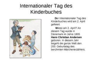 Internationaler Tag des Kinderbuches Der Internationaler Tag des Kinderbuches