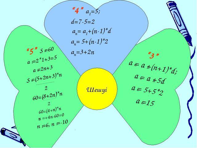 """""""5"""" Sn=60 a1 =2*1+3=5 an=2n+3 Sn=(5+2n+3)*n ___________________________ 2 60=..."""