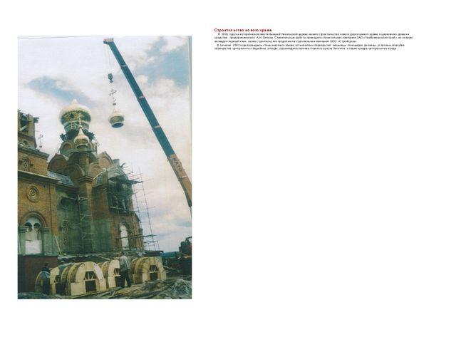 Строительство нового храма В 2001 году на историческом месте бывшей Никольско...