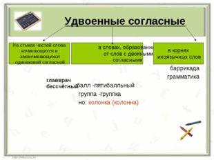 баррикада грамматика балл -пятибалльный группа -группка но: колонка (колонна