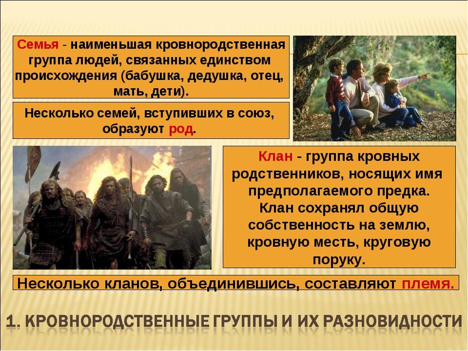 Семья - наименьшая кровнородственная группа людей, связанных единством происх...