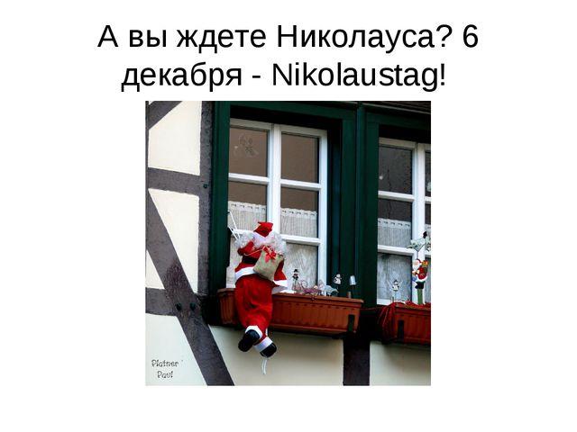 А вы ждете Николауса? 6 декабря - Nikolaustag!
