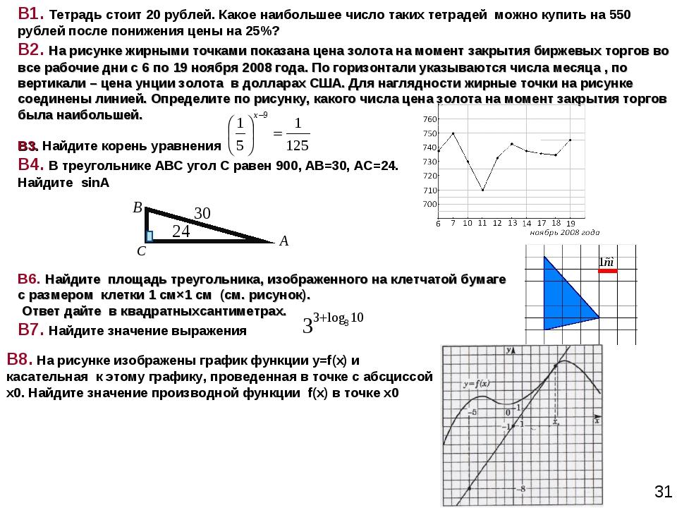 В1. Тетрадь стоит 20 рублей. Какое наибольшее число таких тетрадей можно купи...