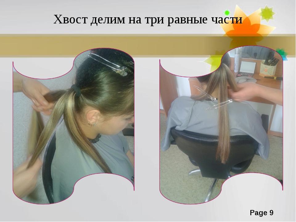 Хвост делим на три равные части Page *