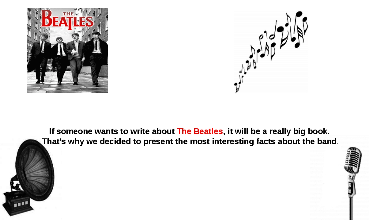 If someone wants to write about The Beatles, it will be a really big book. Th...