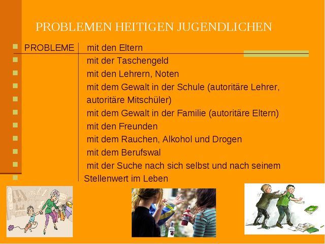 PROBLEMEN HEITIGEN JUGENDLICHEN PROBLEME mit den Eltern mit der Taschengeld m...