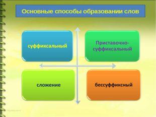 Основные способы образовании слов