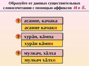 Образуйте от данных существительных словосочетания с помощью аффиксов -И е -Ĕ