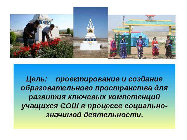 Цель: проектирование и создание образовательного пространства для развития кл...