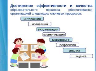 Достижение эффективности и качества образовательного процесса обеспечивается