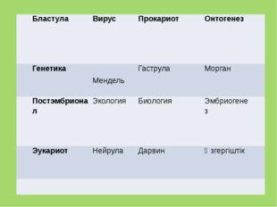 Бластула Вирус Прокариот Онтогенез  Генетика  Мендель Гаструла Морган  Пос