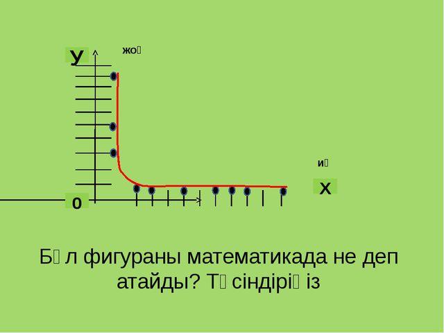 Бұл фигураны математикада не деп атайды? Түсіндіріңіз иә жоқ 0 У Х