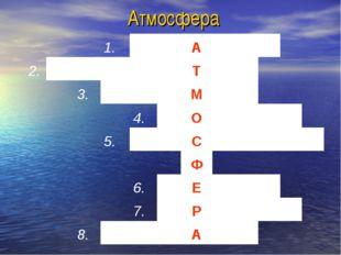 Атмосфера 1.А 2.Т 3.М 4
