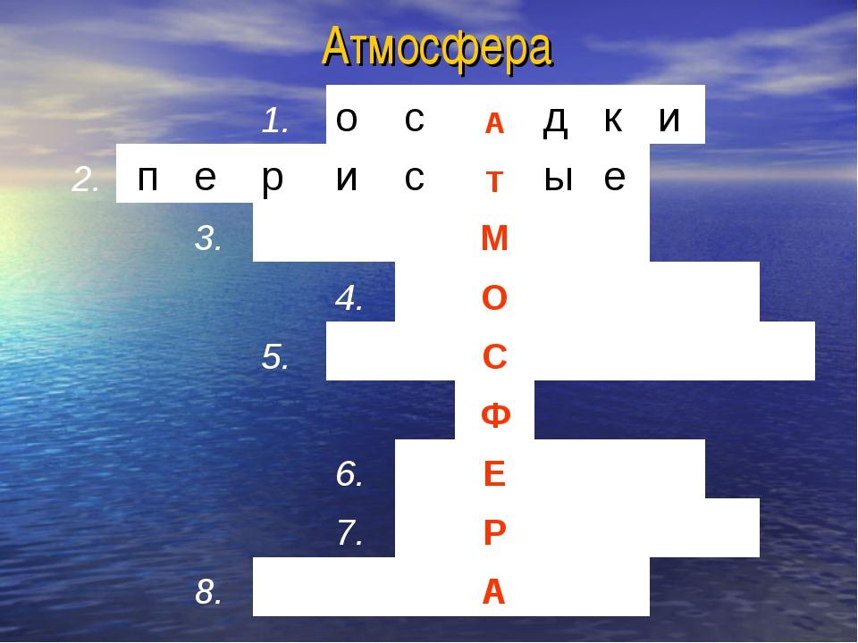 Атмосфера 1.осАдки 2.перисТые 3.М...