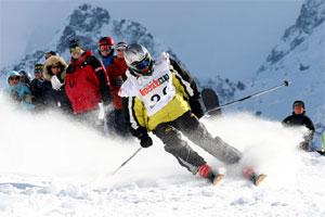 Стойки спусков на лыжах