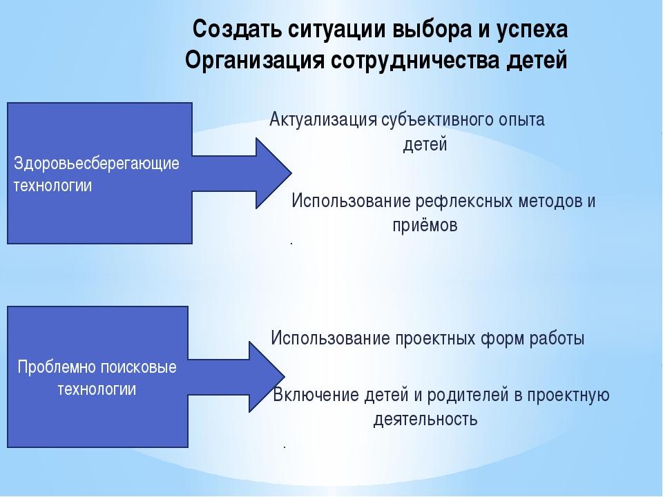 Актуализация субъективного опыта детей Использование рефлексных методов и пр...
