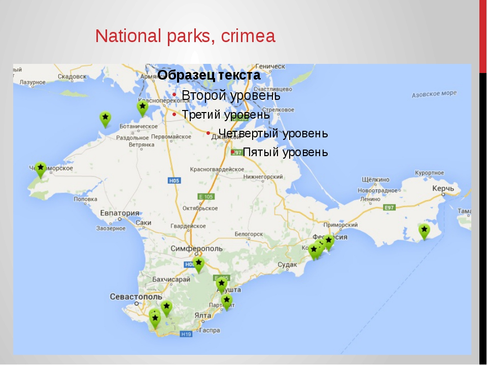 National parks, crimea