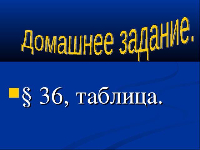 § 36, таблица.