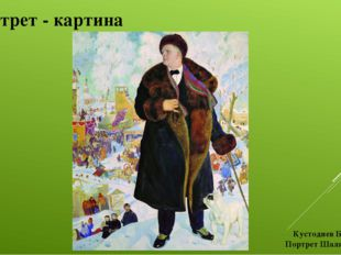 Портрет - картина Кустодиев Б.М. Портрет Шаляпина