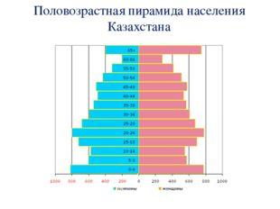 Половозрастная пирамида населения Казахстана