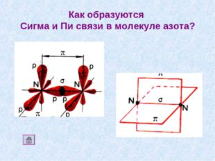 Как образуются Сигма и Пи связи в молекуле азота?