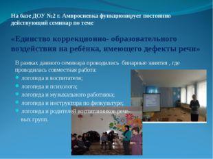 На базе ДОУ №2 г. Амвросиевка функционирует постоянно действующий семинар по