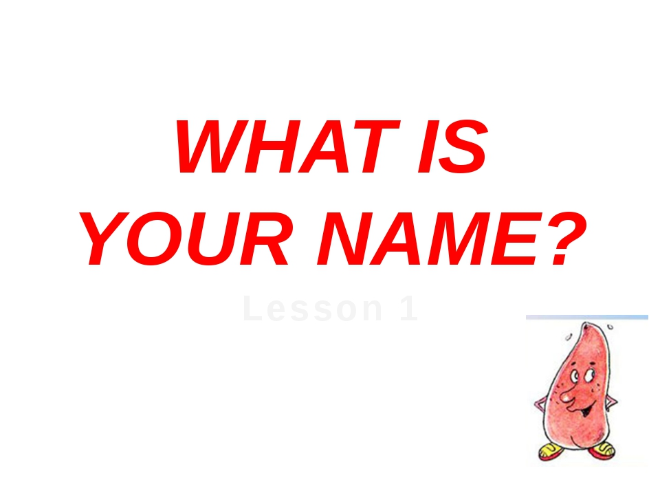 WHAT IS YOUR NAME? Lesson 1
