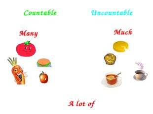 Countable Uncountable Much Many A lot of