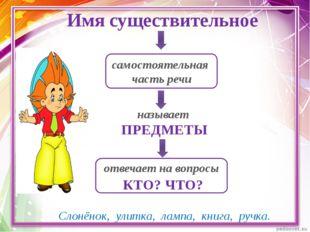 © InfoUrok.ru Имя существительное самостоятельная часть речи называет ПРЕДМЕТ