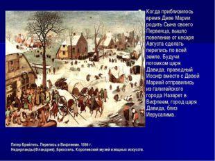 Питер Брейгель. Перепись в Вифлееме. 1566 г. Нидерланды(Фландрия), Брюссель.