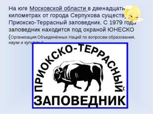 На юге Московской области в двенадцати километрах от города Серпухова существ