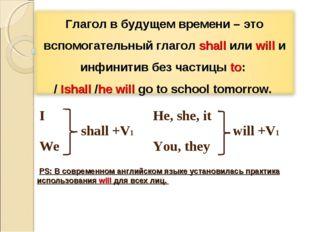 PS: В современном английском языке установилась практика использования will