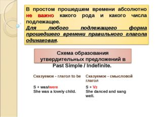 Сказуемое - глагол to be Сказуемое - смысловой глагол S + was/were She was a