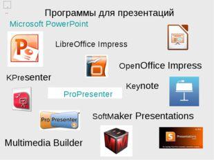 Программы для презентаций ProPresenter Microsoft PowerPoint LibreOffice Impre