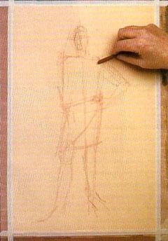 Пошаговый урок карандашного рисунка - шаг 1