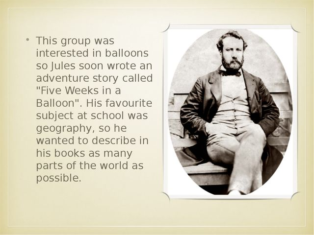 This group was interested in balloons so Jules soon wrote an adventure story...