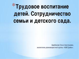 Щербакова Ольга Анатольевна, воспитатель разновозрастной группы «АБВГДейка».