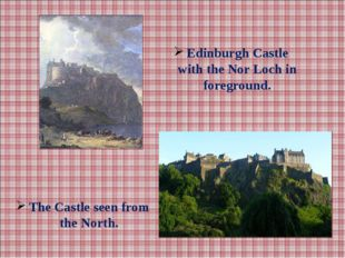 Edinburgh Castle with the Nor Loch in foreground. The Castle seen from the No