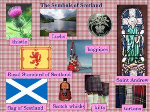 The Symbols of Scotland Scotch whisky tartans flag of Scotland Saint Andrew t