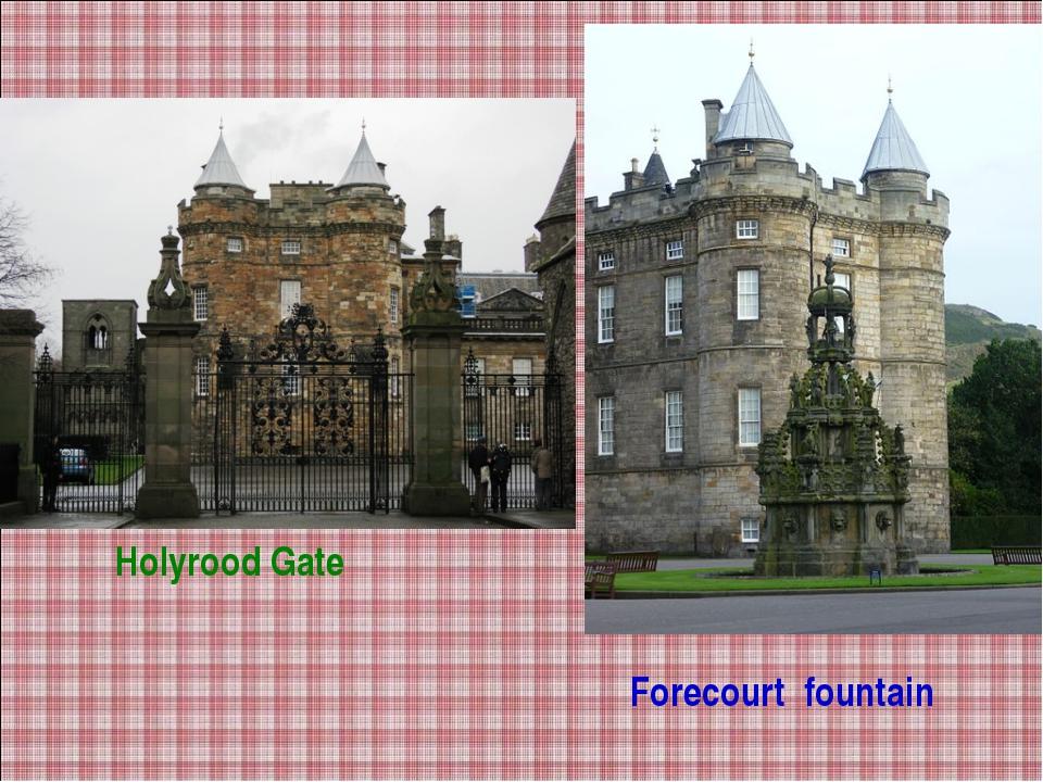 Forecourt fountain Holyrood Gate