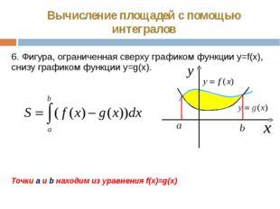 Вычисление площадей с помощью интегралов 6. Фигура, ограниченная сверху графи