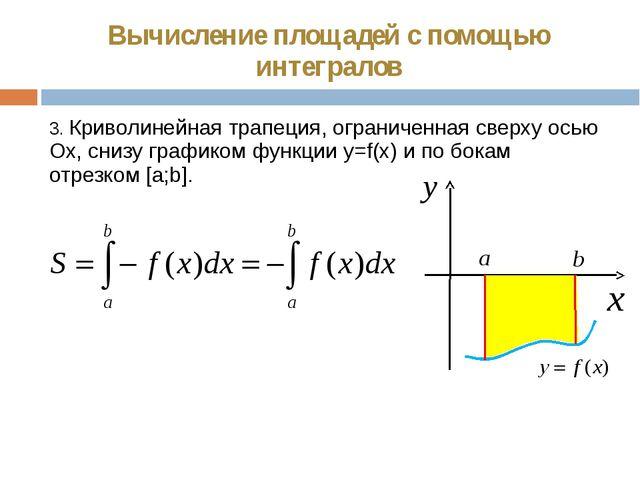 Вычисление площадей с помощью интегралов 3. Криволинейная трапеция, ограничен...