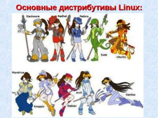 Основные дистрибутивы Linux: