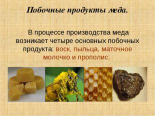 Побочные продукты меда. В процессе производства меда возникает четыре основны