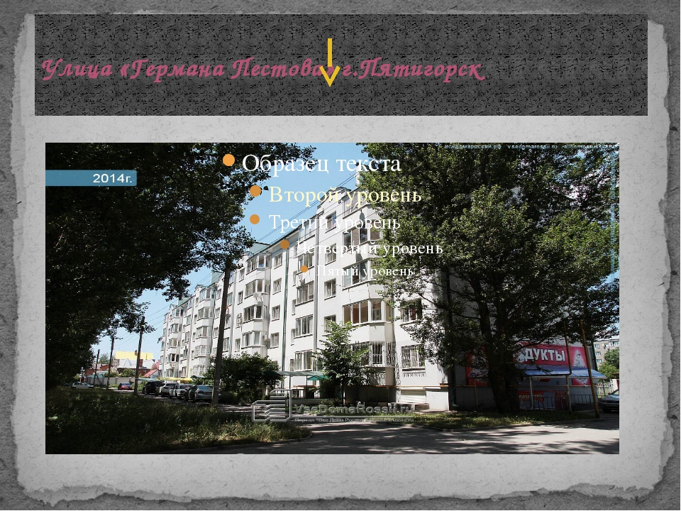 Улица «Германа Пестова» г.Пятигорск