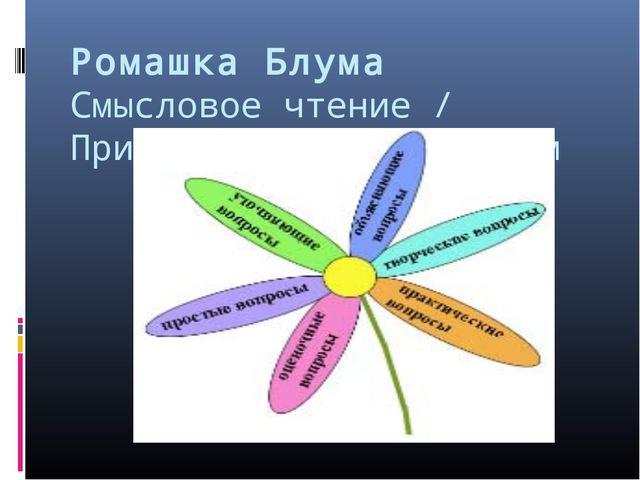 Ромашка Блума Смысловое чтение / Приёмы работы с текстом